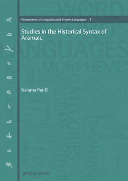 Picture of Studies in the Historical Syntax of Aramaic