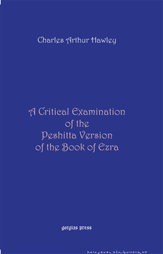 Picture of A Critical Examination of the Peshitta Version of the Book of Ezra
