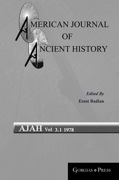 Picture of American Journal of Ancient History 3.1