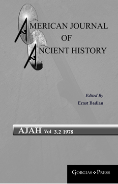 Picture of American Journal of Ancient History 3.2
