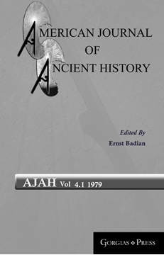 Picture of American Journal of Ancient History 4.1