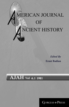 Picture of American Journal of Ancient History 6.1