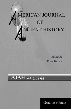 Picture of American Journal of Ancient History 7.1