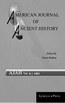 Picture of American Journal of Ancient History 8.1