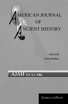 Picture of American Journal of Ancient History 9.1