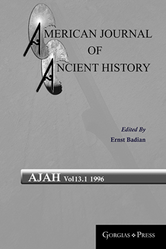 Picture of American Journal of Ancient History 13.1