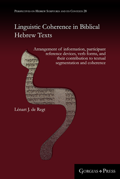 Picture of Linguistic Coherence in Biblical Hebrew Texts