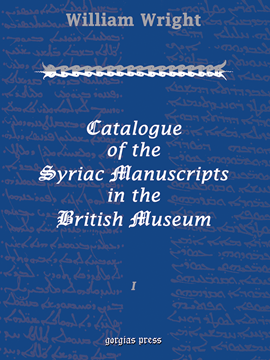 Picture of Catalogue of the Syriac Manuscripts in the British Museum (3-volume set)