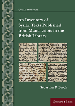 Picture of An Inventory of Syriac Texts Published from Manuscripts in the British Library