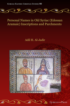 Picture of Personal Names in Old Syriac (Edessan Aramaic)  Inscriptions and Parchments